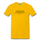 MLK different ships on light on a premium unisex T-shirt - sun yellow