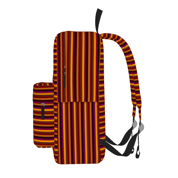 Cinnamon stripe backpack: Pattern in warm shades