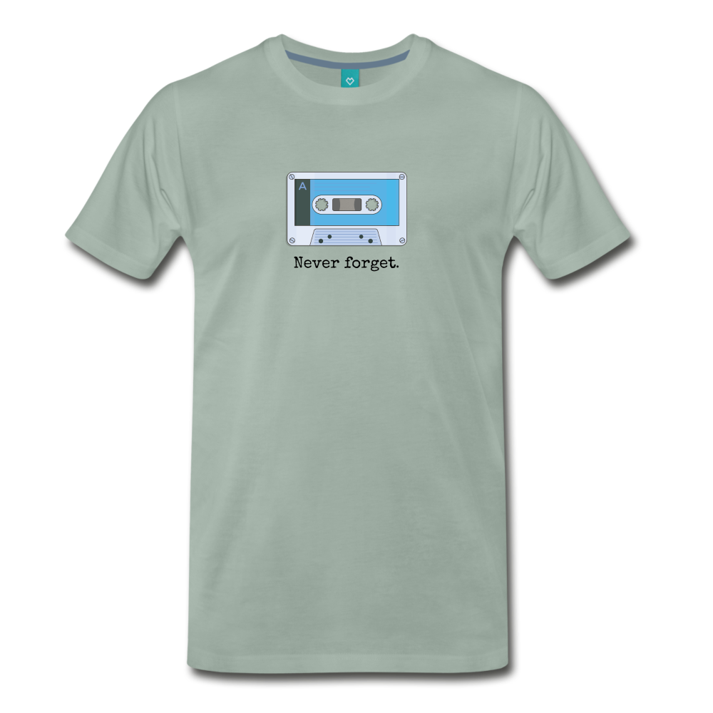 Forget tape on a premium unisex T-shirt - steel green
