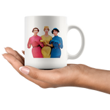 Three '50s ladies checking you out - Funny retro-style mug