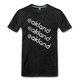 OAKLAND city T-shirt: Vintage-style distressed graphic on a premium unisex shirt