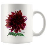 Mugs with beautiful vintage dahlia flowers: 3 different pictures available