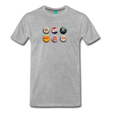 Bottle caps on a premium unisex T-shirt - heather gray