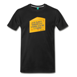 Cheese unisex on a premium unisex T-shirt - black