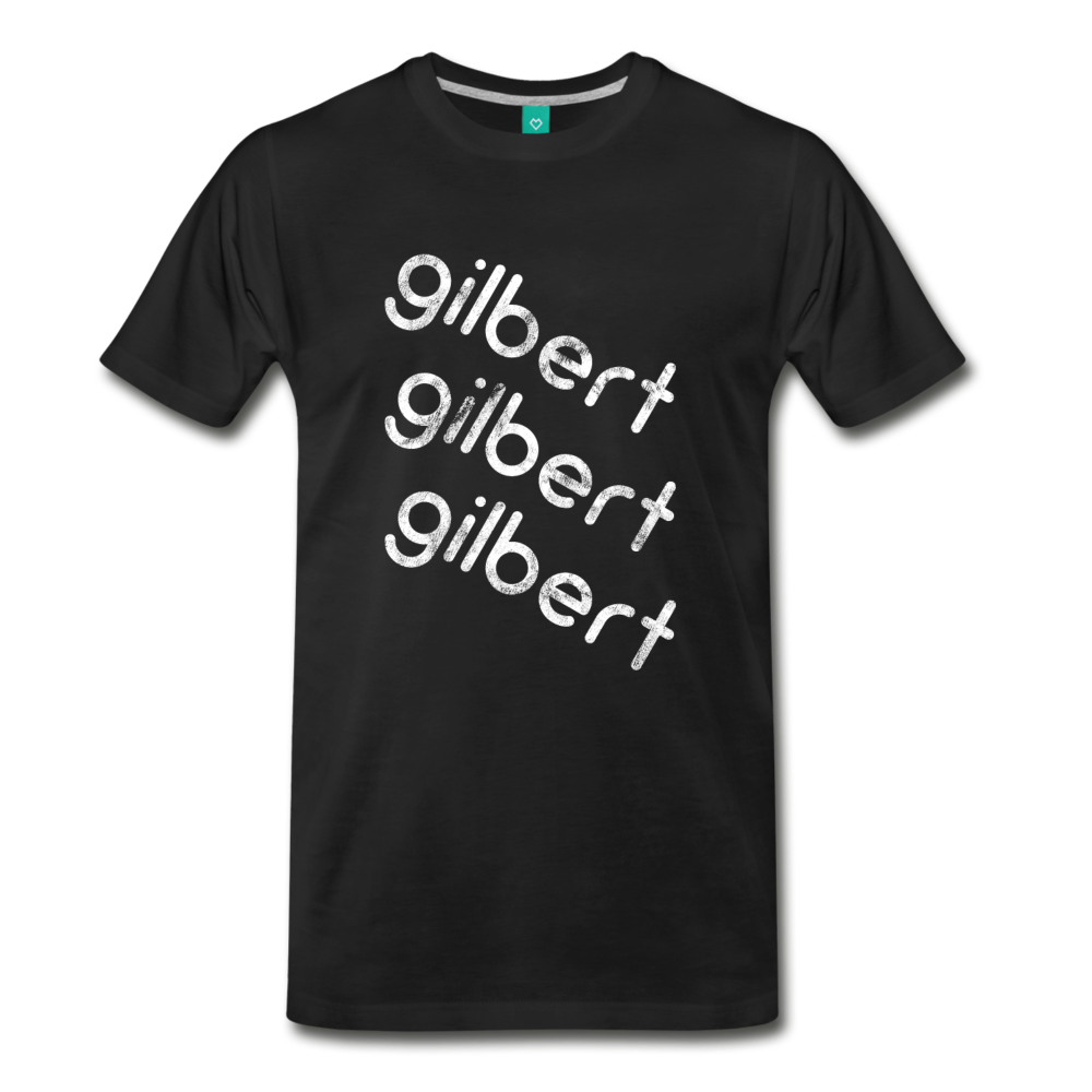 GILBERT on a premium unisex T-shirt - black