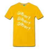 GILBERT on a premium unisex T-shirt - sun yellow