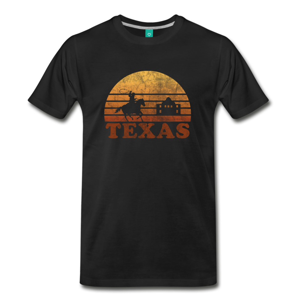 TEXAS state T-shirt: Vintage-style distressed graphic on a premium unisex shirt - black