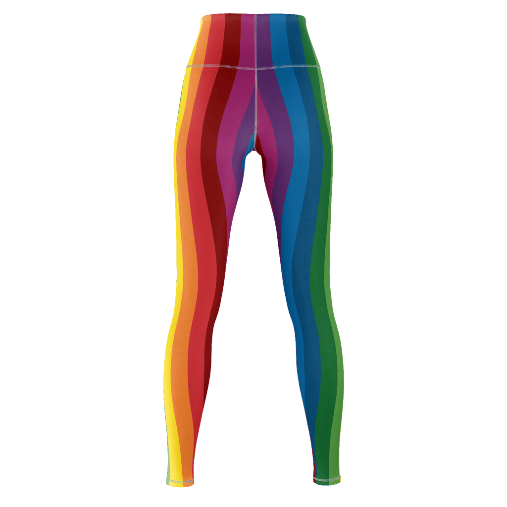 RetroRainbow premium yoga pants - Vertical stripes