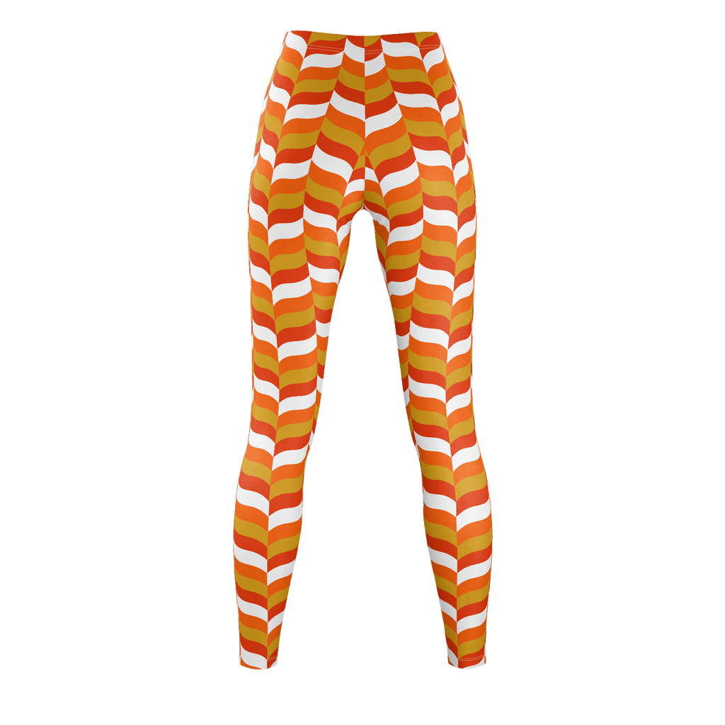 Modfeather pattern leggings in orange