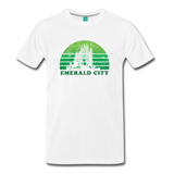 Emerald City - OZ T-shirt: Vintage-style distressed graphic on a premium unisex shirt