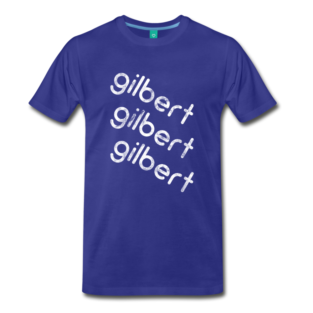 GILBERT on a premium unisex T-shirt - royal blue