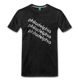 PHILADELPHIA city T-shirt: Vintage-style distressed graphic on a premium unisex shirt