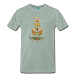 1917 butterflies on a premium unisex T-shirt - steel green