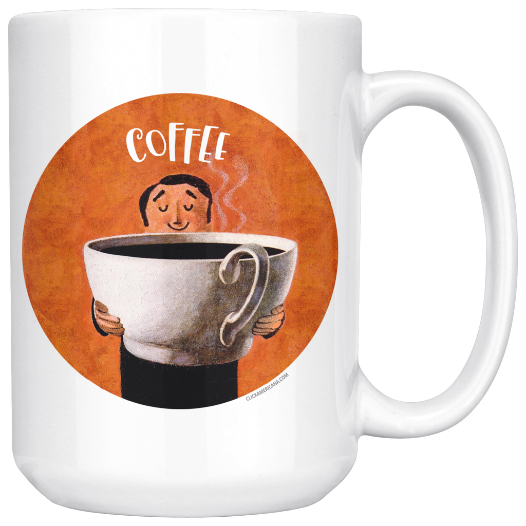 Large mugs for coffee lovers! Vintage designs with huge coffee cups