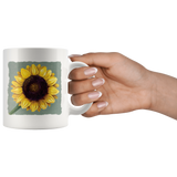 Mugs with two different vintage Victorian sunflower designs