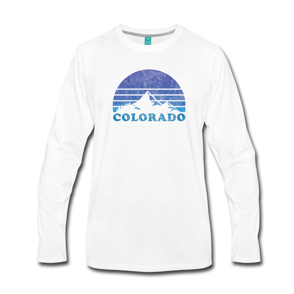 Men's Premium Long Sleeve T-Shirt - white