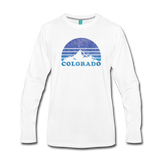 COLORADO - Vintage-style state design on a unisex premium long-sleeve T-shirt