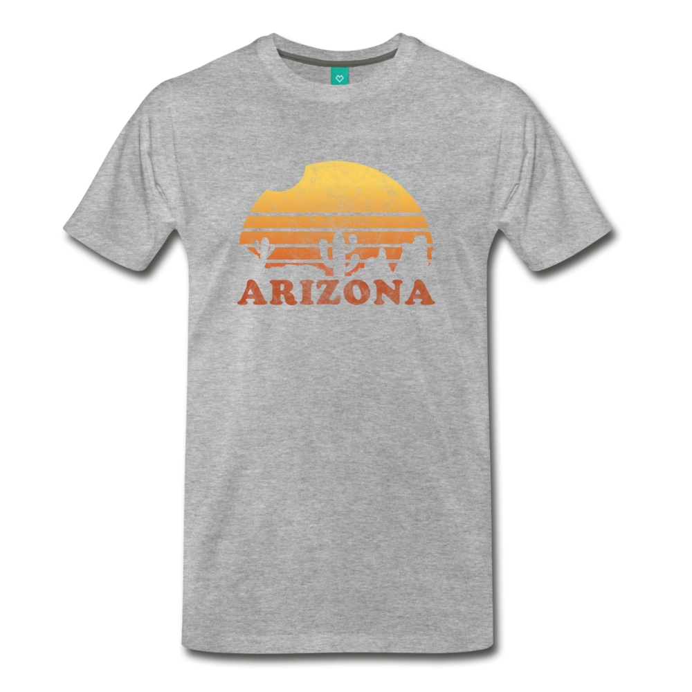 ARIZONA state T-shirt: Vintage-style distressed graphic on a premium unisex shirt - heather gray