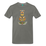 1917 butterflies on a premium unisex T-shirt - asphalt gray