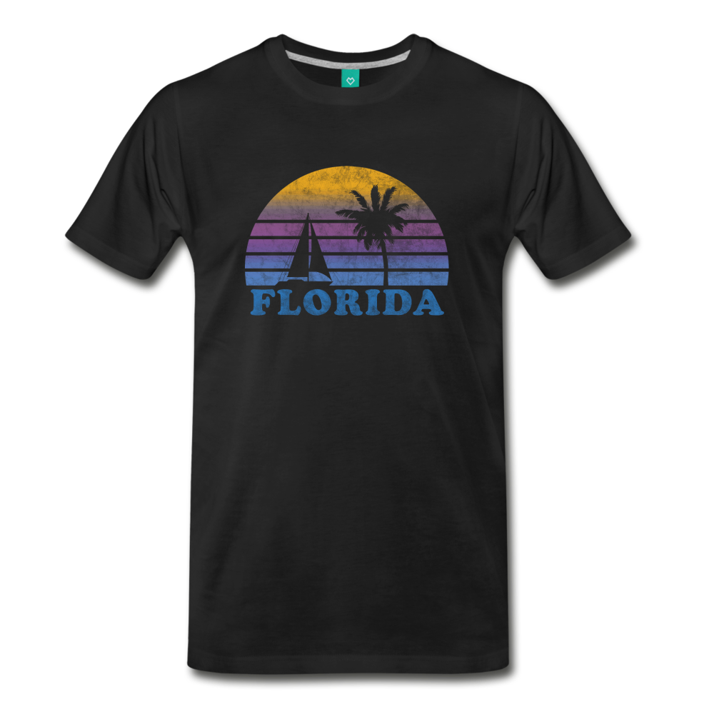 FLORIDA state T-shirt: Vintage-style distressed graphic on a premium unisex shirt - black