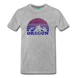 OREGON state T-shirt: Vintage-style distressed graphic on a premium unisex shirt - heather gray