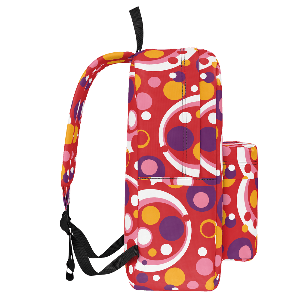 Moddots groovy circle & dot pattern backpack