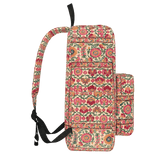 Delhi red floral backpack