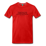 MLK different ships on light on a premium unisex T-shirt - red