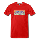 Ancient illuminated art - on a premium unisex T-shirt - red