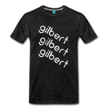 GILBERT on a premium unisex T-shirt - charcoal gray