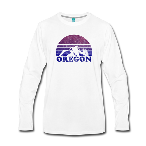 OREGON - Men's Premium Long Sleeve T-Shirt - white