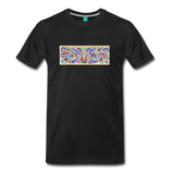 Ancient illuminated art - on a premium unisex T-shirt - black