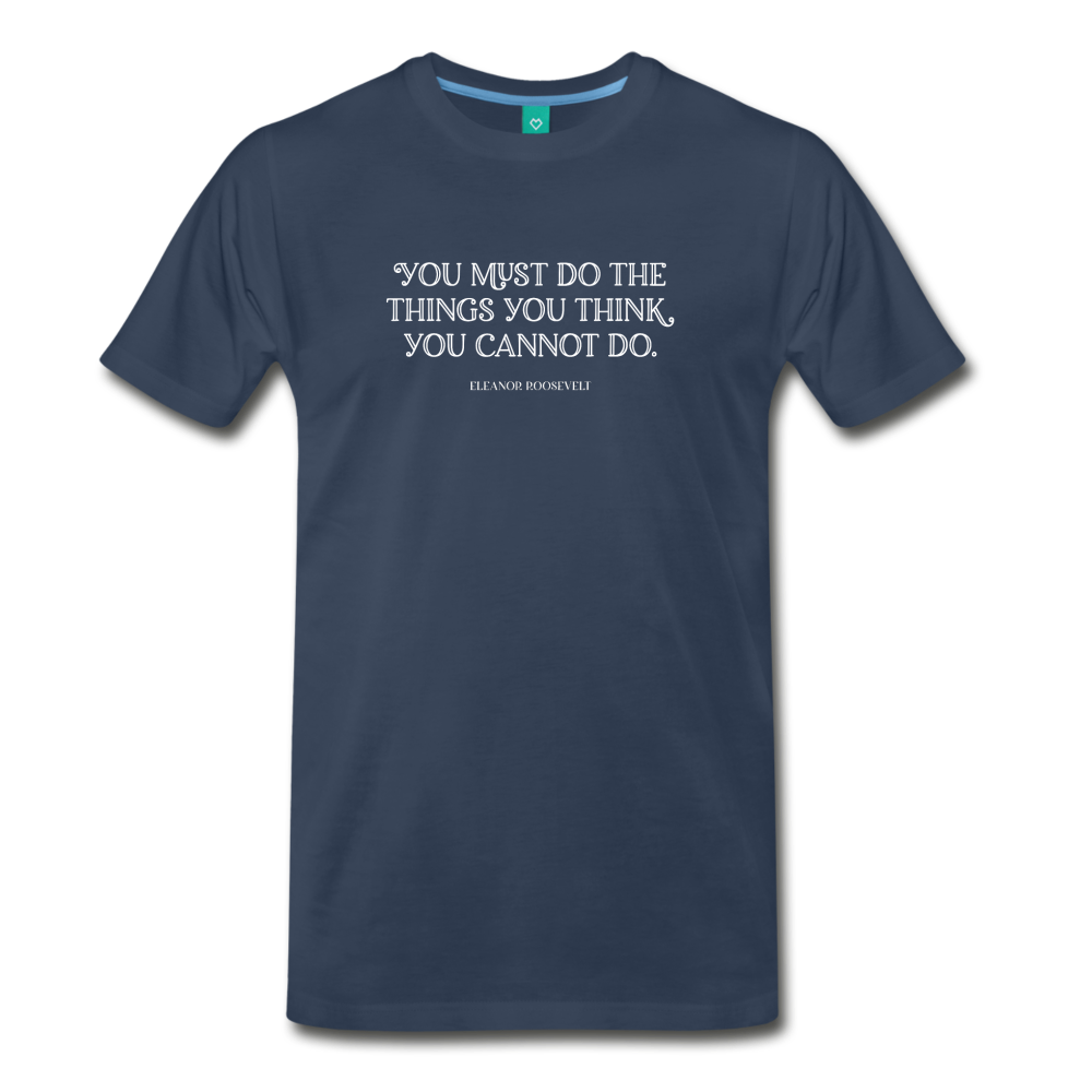 Roosevelt cannot do on dark on a premium unisex T-shirt - navy