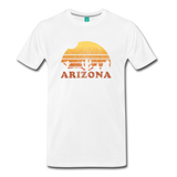 ARIZONA state T-shirt: Vintage-style distressed graphic on a premium unisex shirt - white