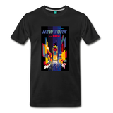 Times Square in New York City - Abstract vintage art on a on a premium unisex T-shirt - black