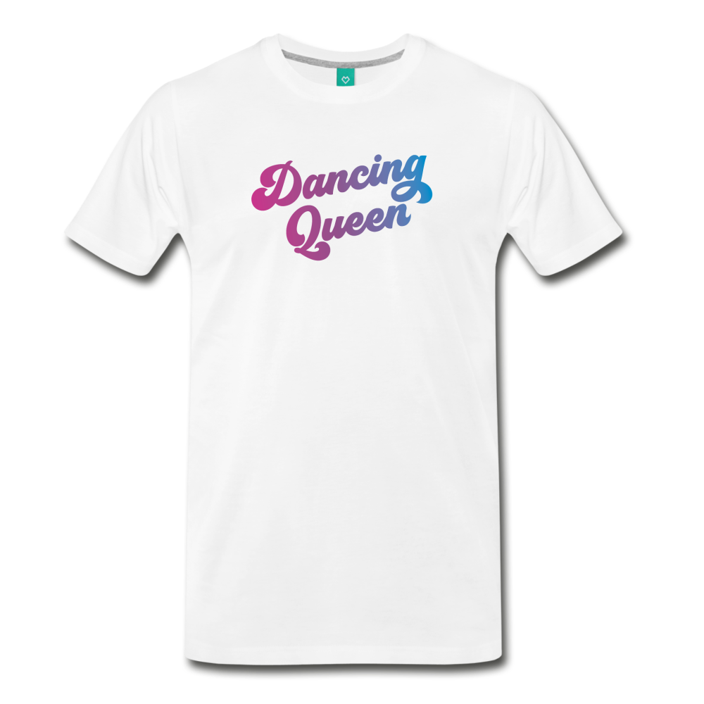 Dancing Queen unisex on a premium unisex T-shirt - white