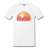 CALIFORNIA state long-sleeve shirt: Vintage-style distressed graphic on a premium top - white