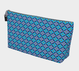 Diamondflower cosmetics/accessories bags: Vintage Flower Pattern in aqua & lavender