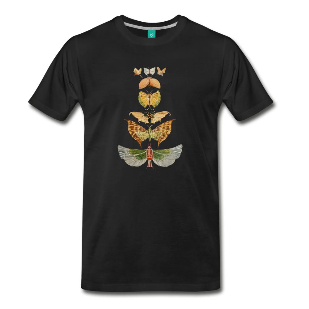 1917 butterflies on a premium unisex T-shirt - black