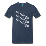 SAN DIEGO city T-shirt: Vintage-style distressed graphic on a premium unisex shirt