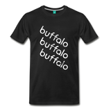 BUFFALO city T-shirt: Vintage-style distressed graphic on a premium unisex shirt
