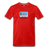 Forget tape on a premium unisex T-shirt - red
