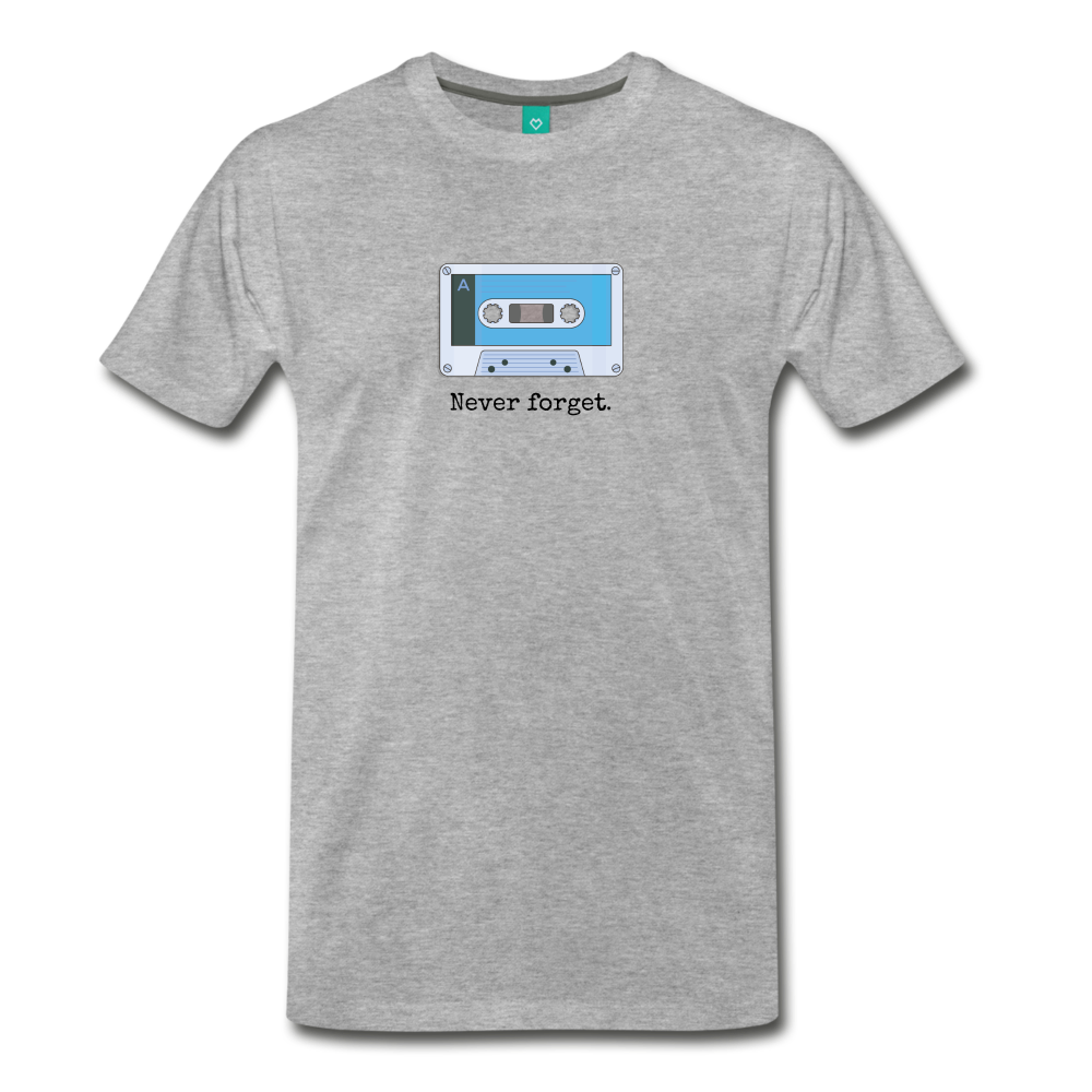 Forget tape on a premium unisex T-shirt - heather gray