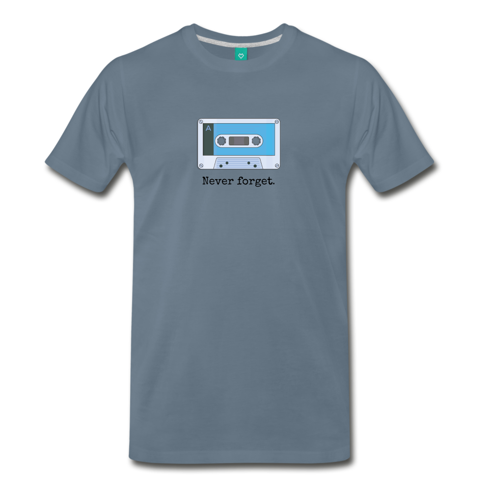 Forget tape on a premium unisex T-shirt - steel blue