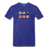 Bottle caps on a premium unisex T-shirt - royal blue