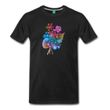 Flowers from 1854 - Recolored botanical print on unisex premium on a T-shirt - black