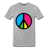 Retro '60s-style peace sign - heather gray