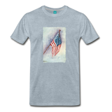 on a premium unisex T-shirt - heather ice blue