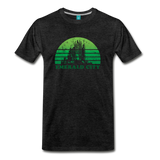 Emerald City - OZ T-shirt: Vintage-style distressed graphic on a premium unisex shirt - charcoal gray