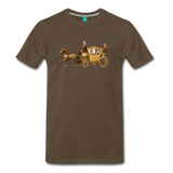 on a premium unisex T-shirt - noble brown